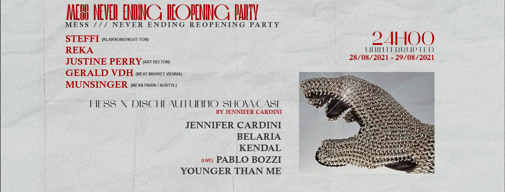 MESS /// NEVER ENDING REOPENING PARTY