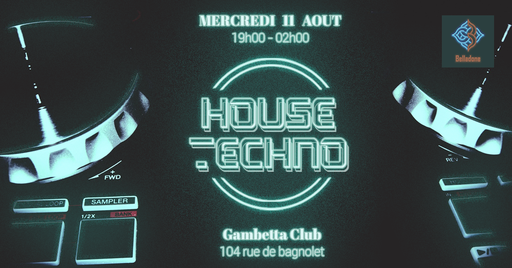 11/08 - 19H/02H ___ Afterwork  House to Techno __