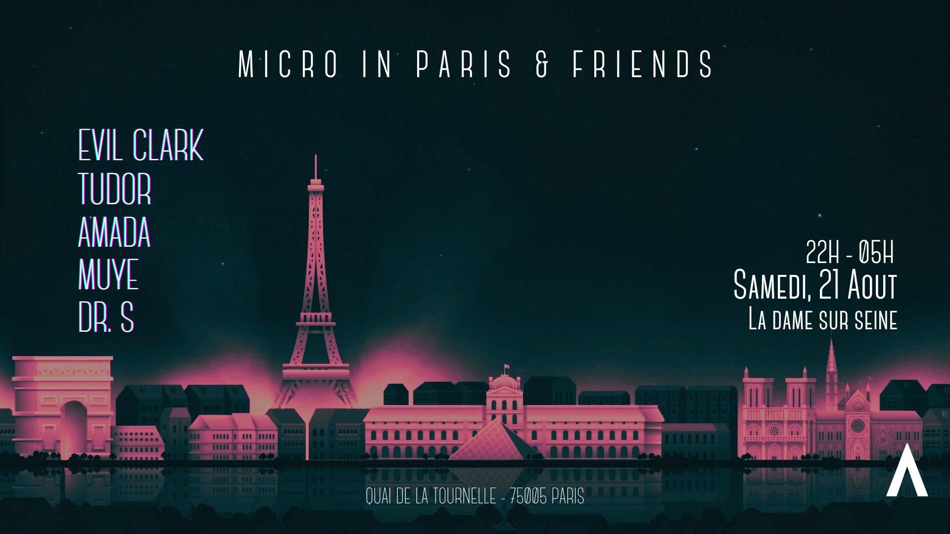 Micro in Paris Invites : Evil Clark & Tudor