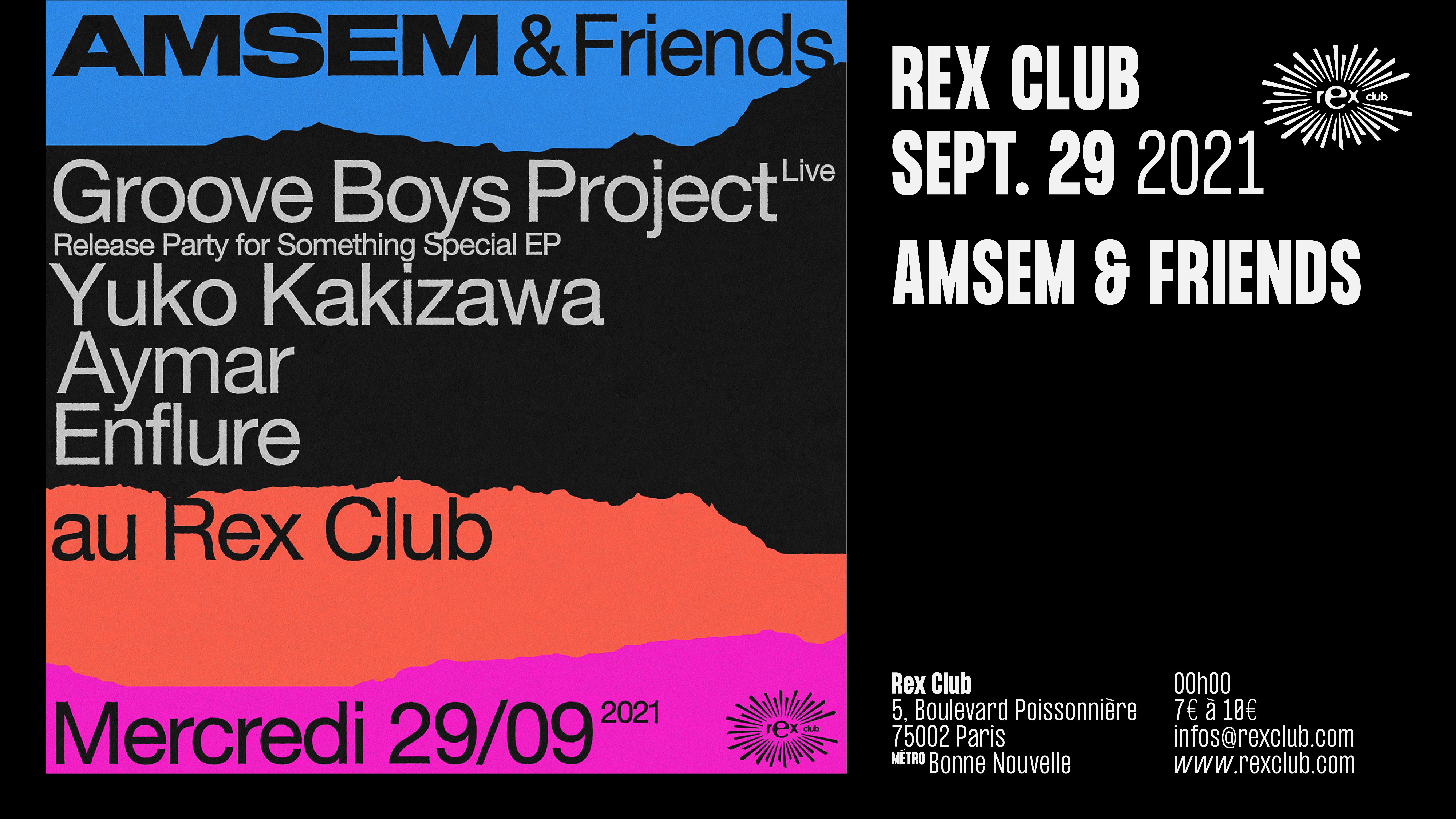 AMSEM & FRIENDS: GROOVE BOYS PROJECT PROJECTS Live