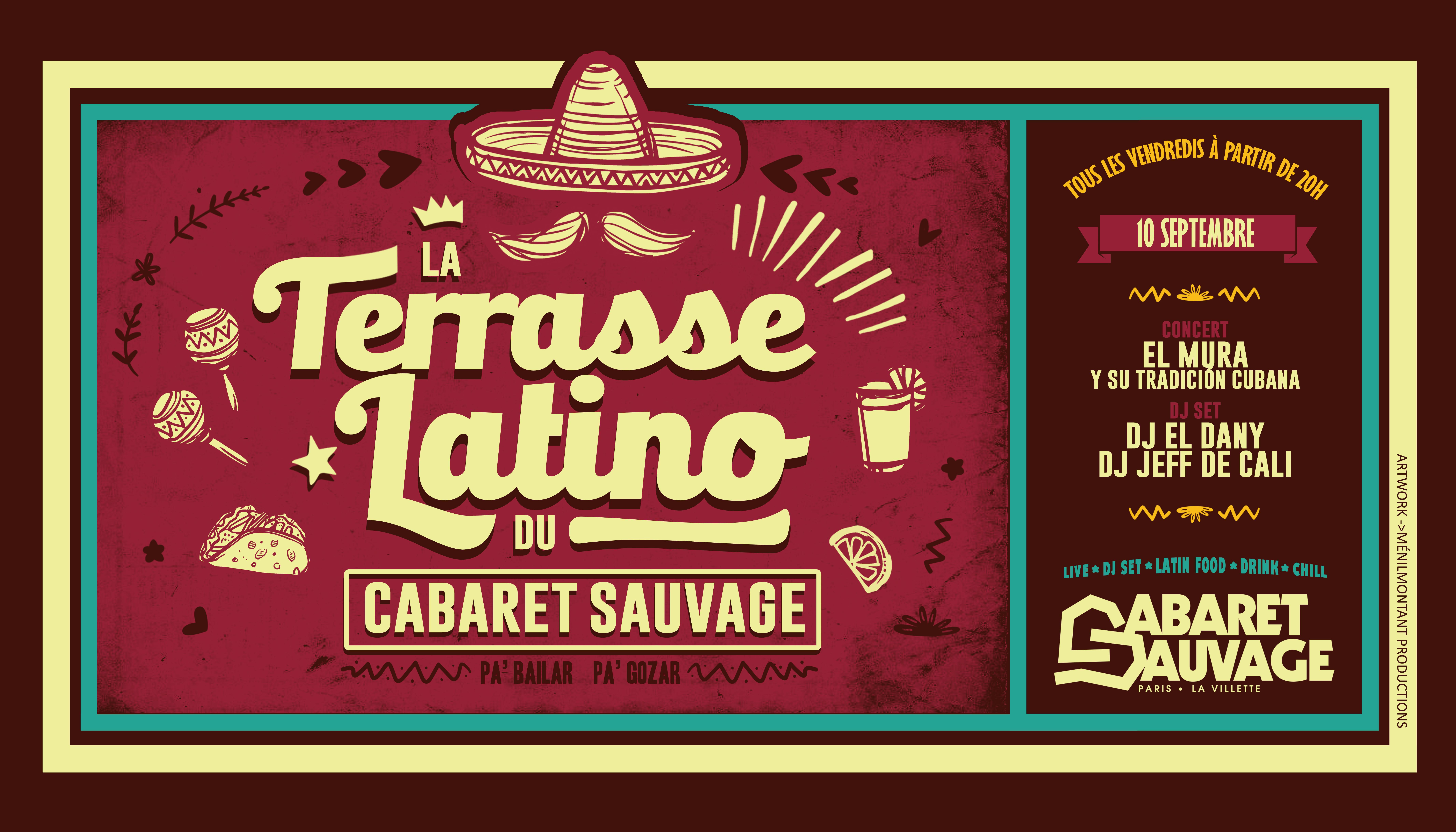 La Terrasse Latino du Cabaret Sauvage - Vendredi 10 Septembre 2021