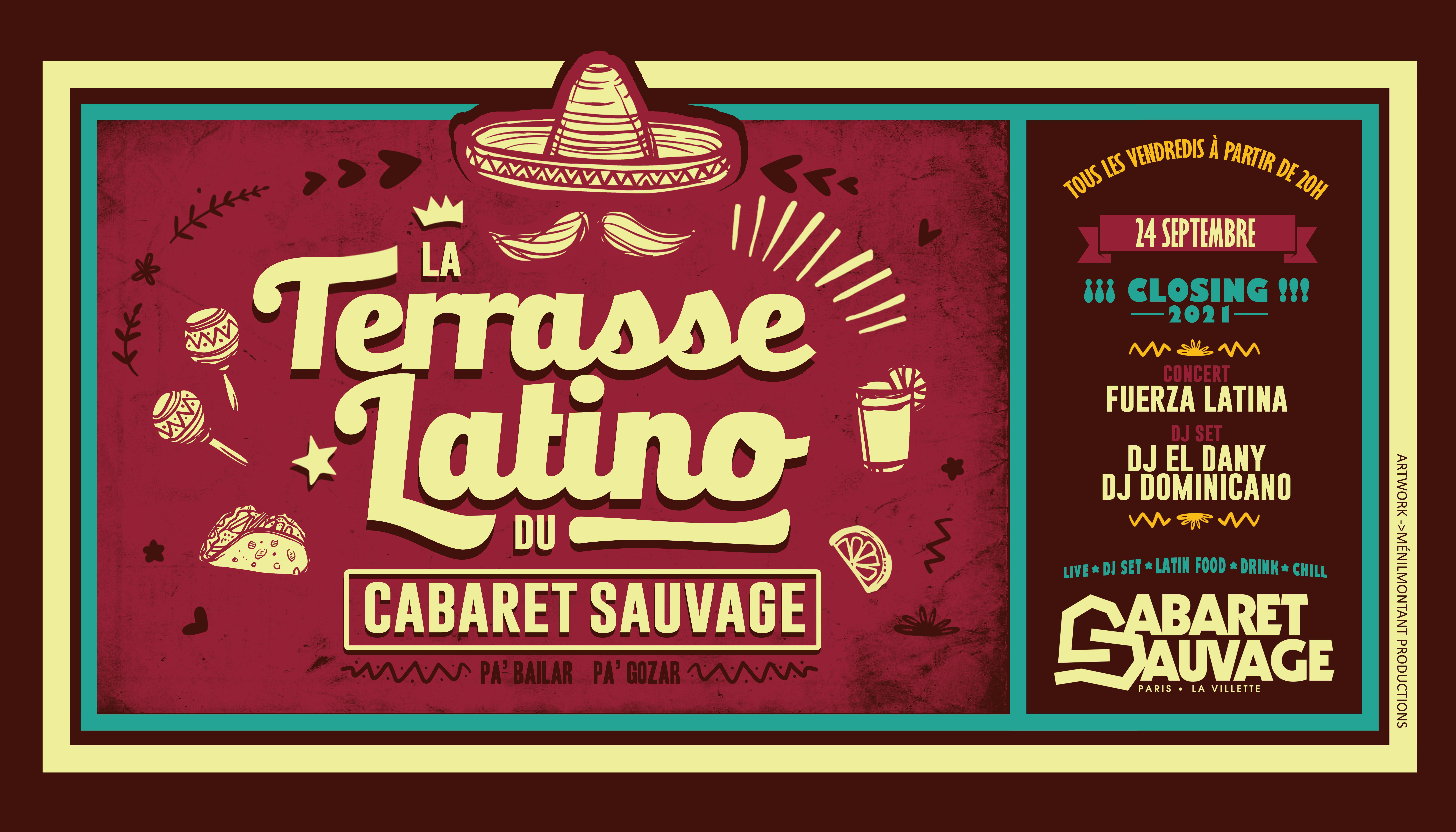 La Terrasse Latino du Cabaret Sauvage - Vendredi 24 Septembre 2021