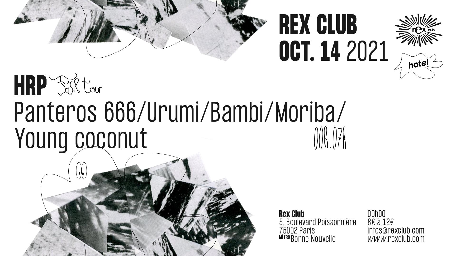 Hotel Radio Paris Fall Tour: Panteros 666, Urumi, Bambi & more