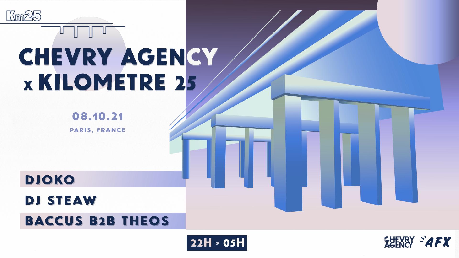 Chevry Agency x Kilomètre25 : DJOKO, DJ Steaw, Baccus B2B THEOS
