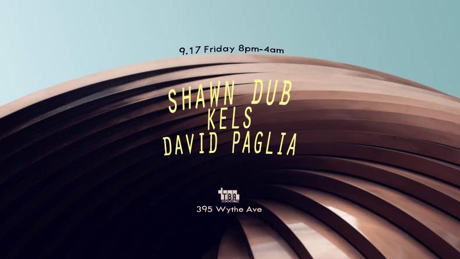 Friday: Shawn Dub, kels, David Paglia