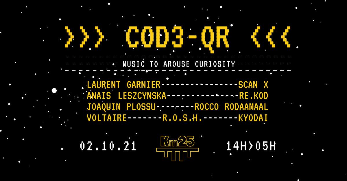 Cod3 QR Records : The first label party avec Laurent Garnier