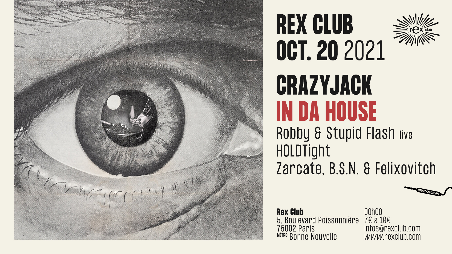 CrazyJack in da House : Robby & Stupid Flash live, Holdtight & more