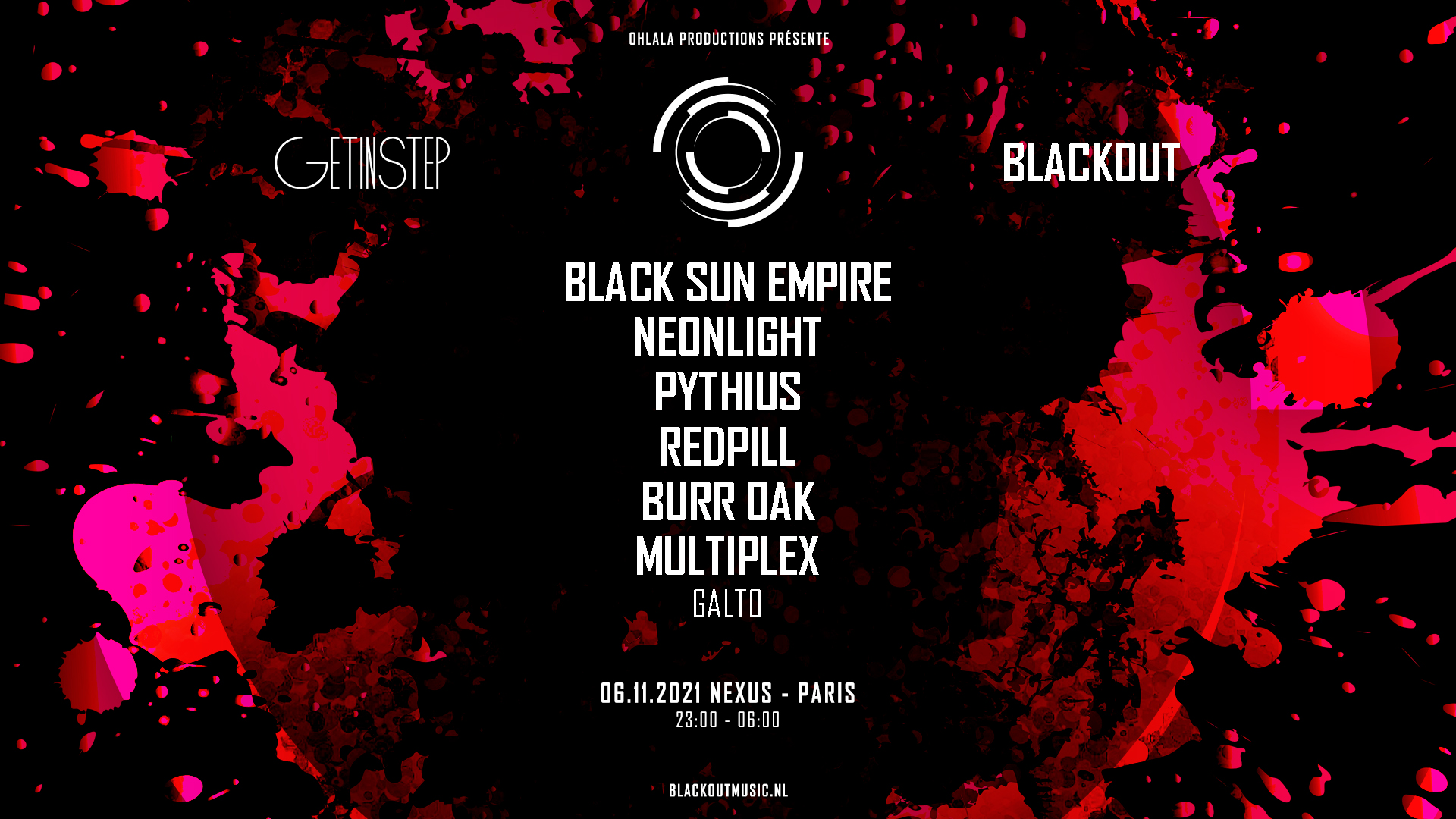 GET IN STEP x BLACKOUT w/ Black Sun Empire & More