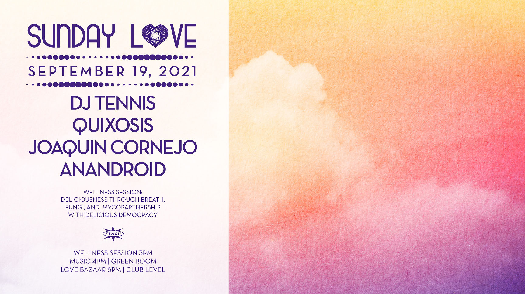 Sunday Love: DJ Tennis, Quixosis, Joaquin Cornejo, Anandroid