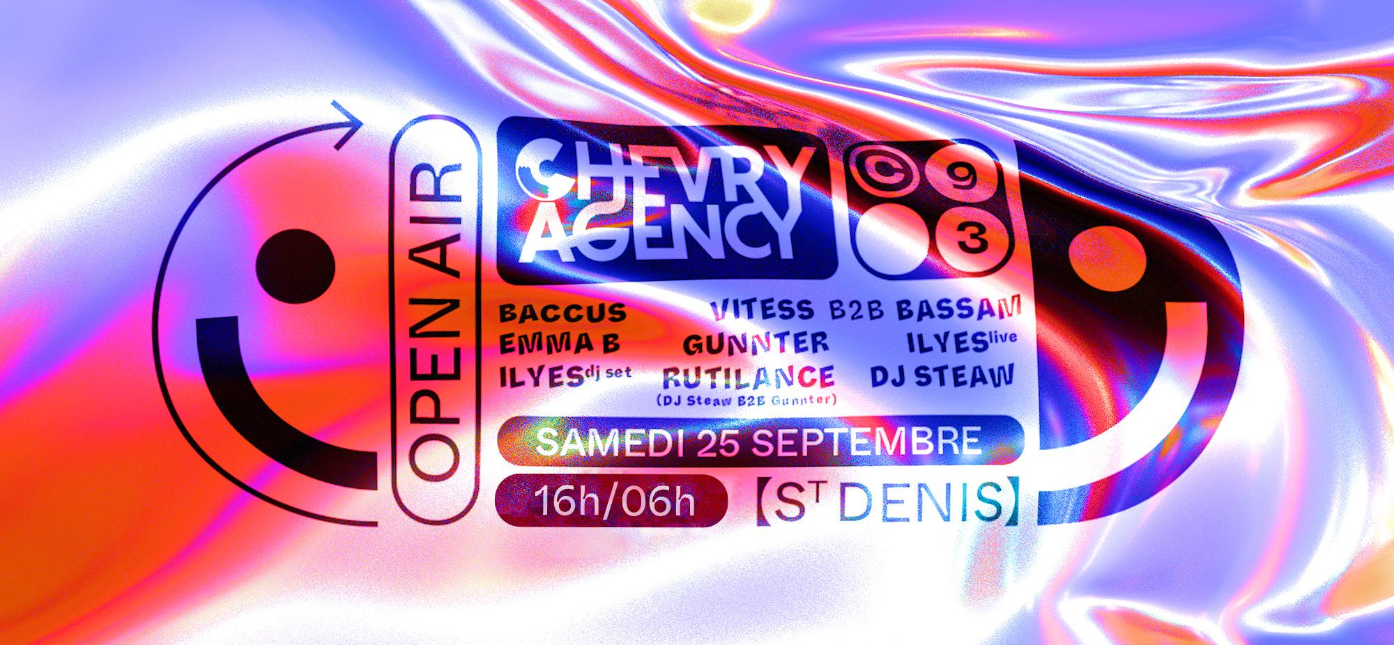 Chevry Agency x Centrale93 : DJ Steaw, Vitess b2b Bassam...