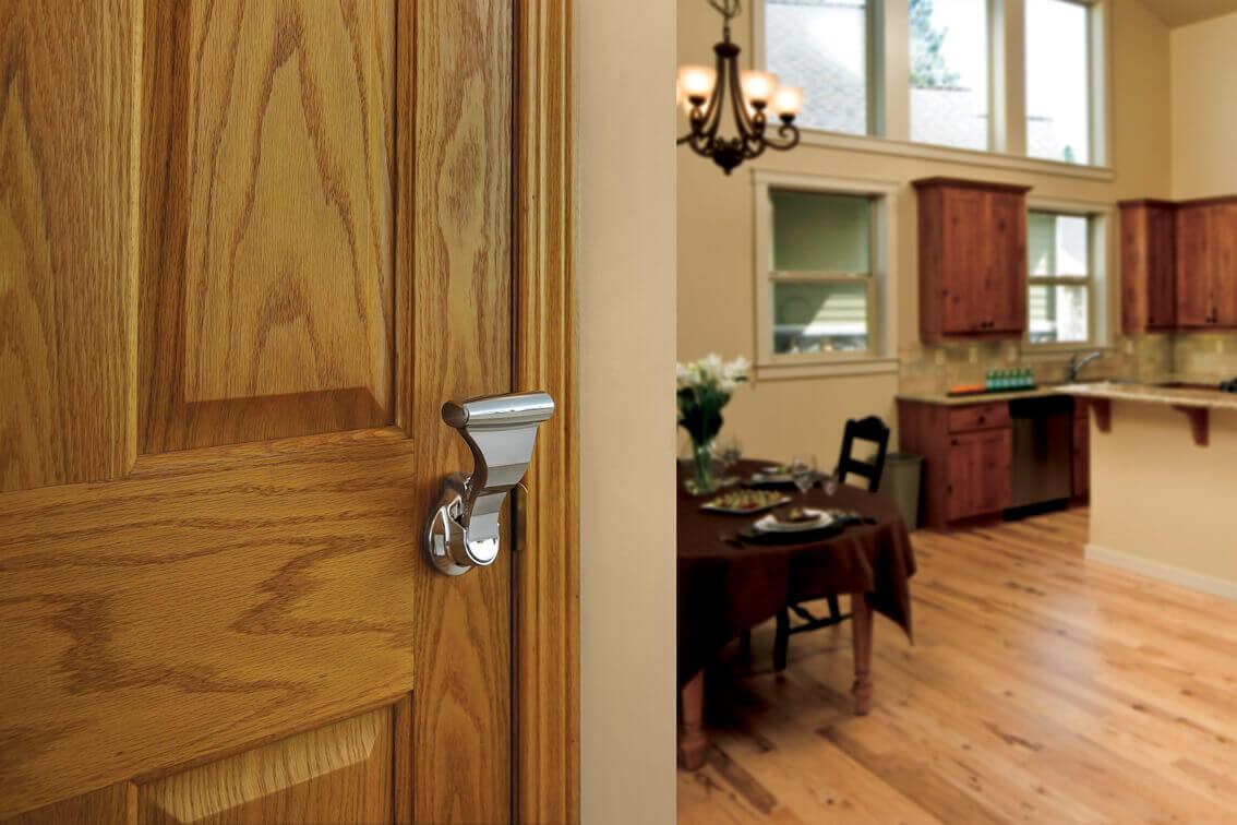 Door with UltraLatch Handle Installed