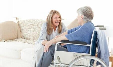 Woman in Wheelchair Talking