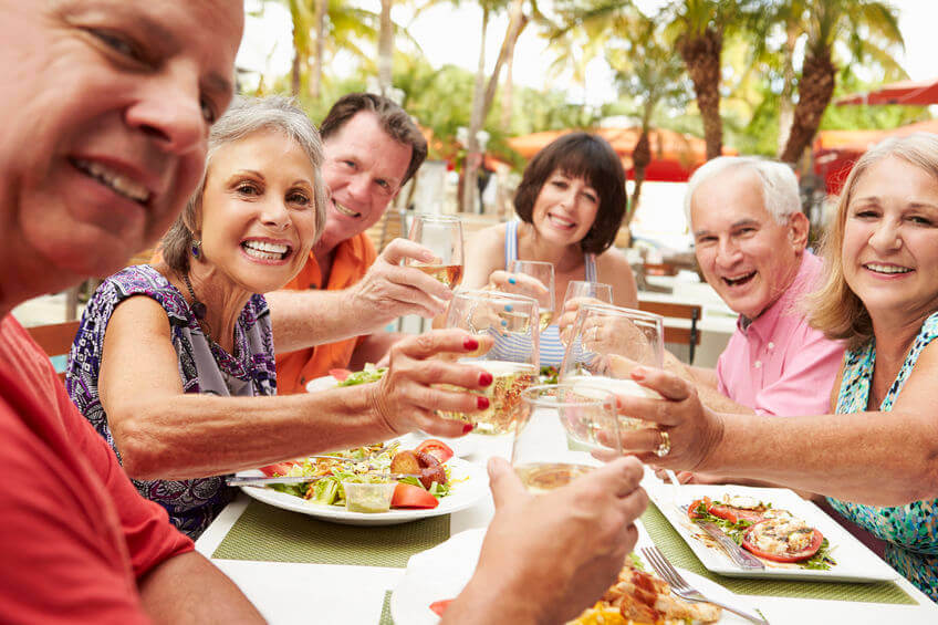 Senior Celebrating with Family and Aging in Place