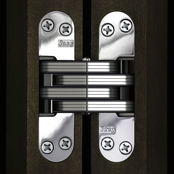Soss Invisible Hinge Brass