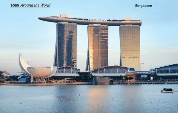 Famous hotel in Singapore recognized as using the Soss Invisible Hinge