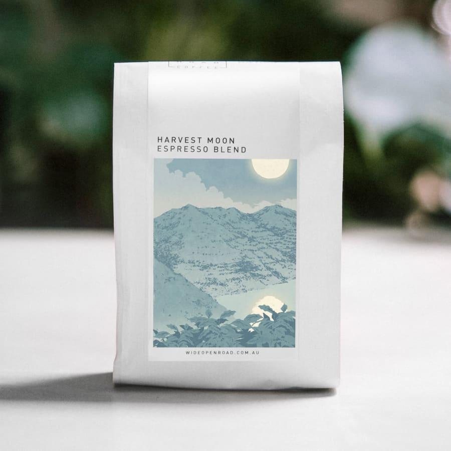 Harvest Moon Organic Espresso Blend | Wide Open Road Coffee