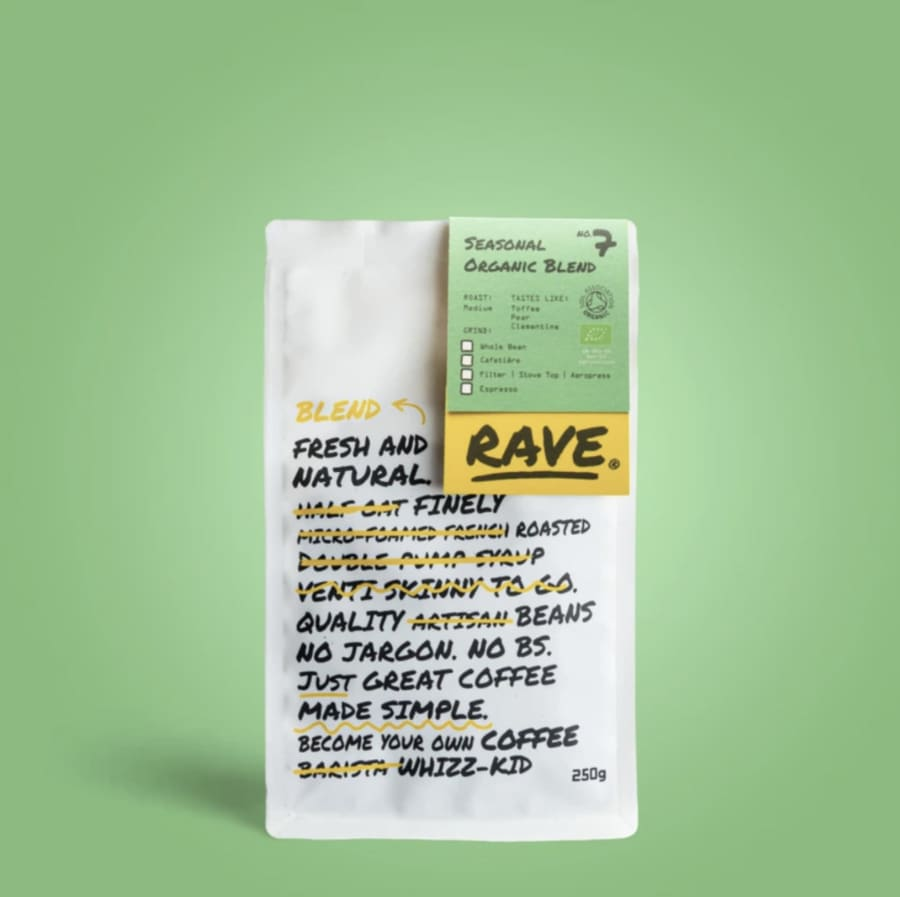 Seasonal Organic Blend No 7 | Rave Coffee