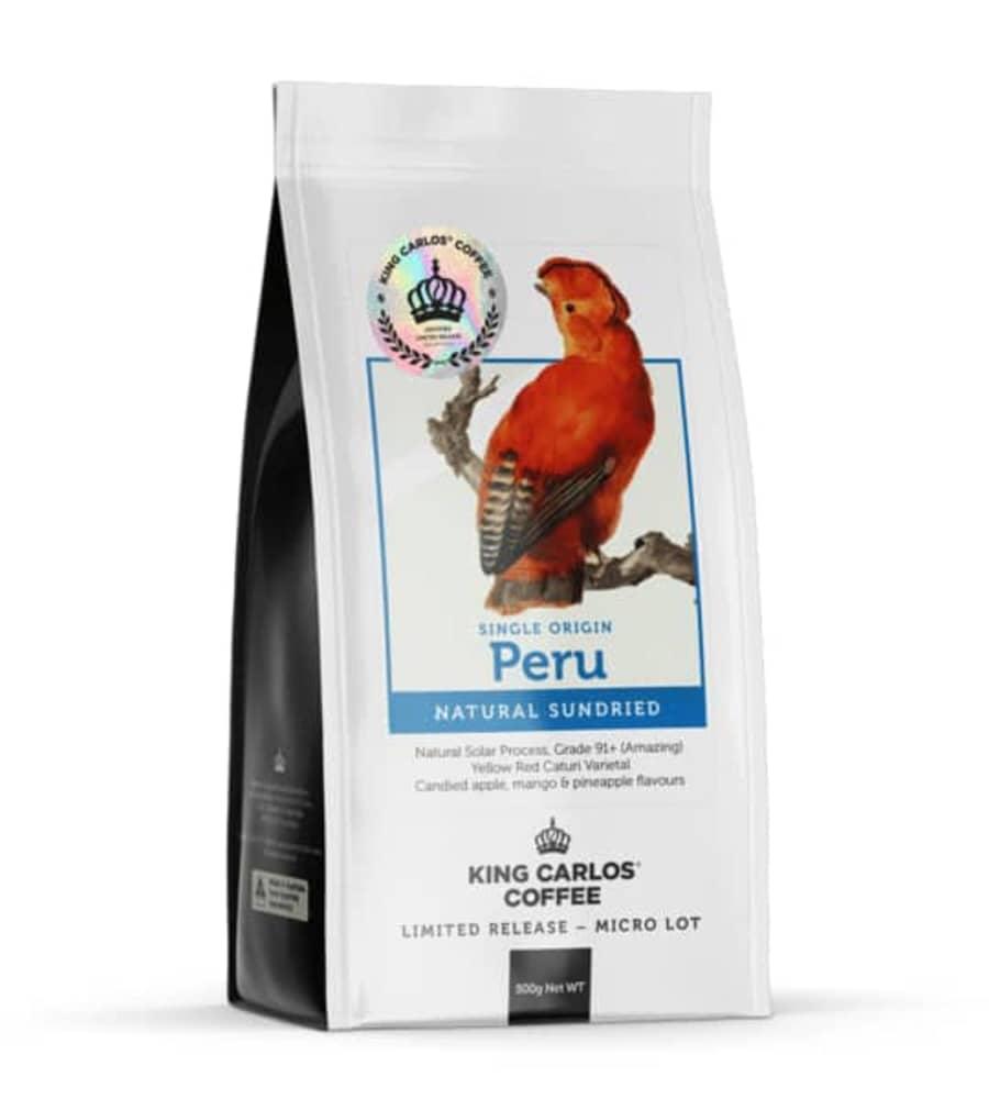 Peru Natural Sundried   King Carlos Coffee