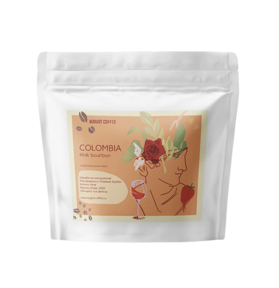 Colombia Pink Bourbon natural   August Coffee Roasters