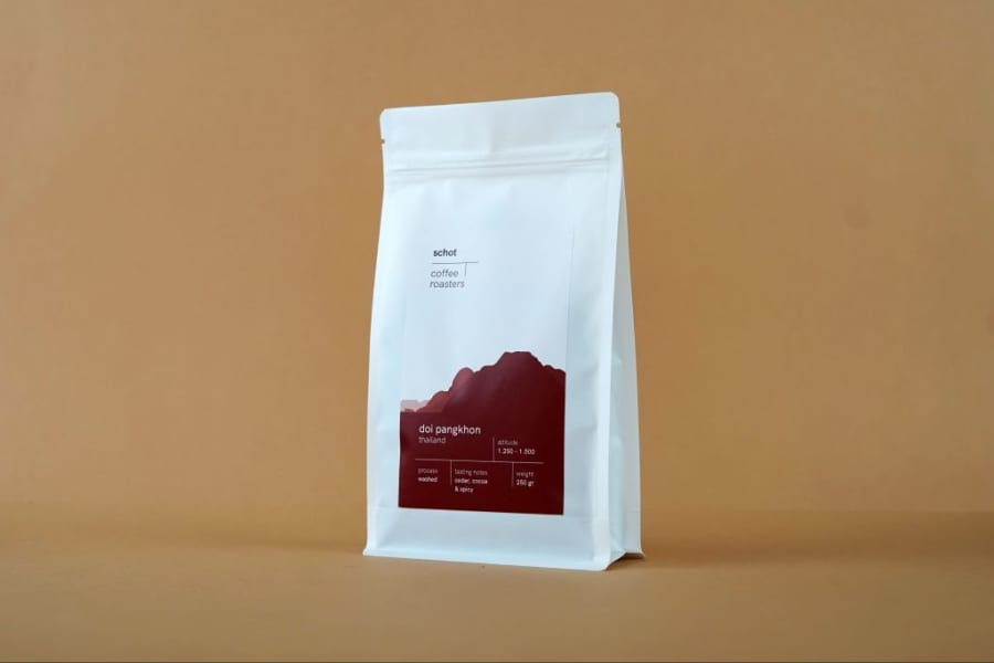 Doi Pangkhon   Schot Koffie