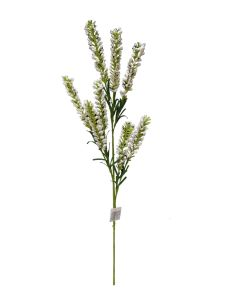 Flor espuma 75cm color blanco