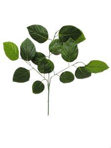 Rama de hojas verdes 65cm...