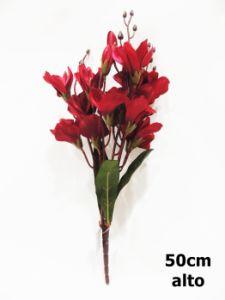 Flor otoño 47cm color rojo