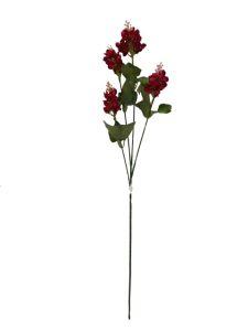 Flor larga 70cm color rojo