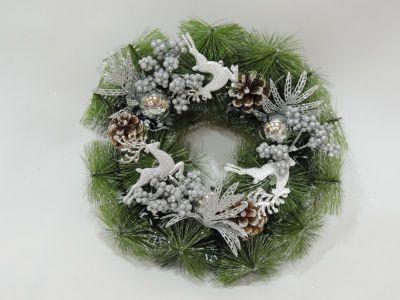 Corona de navidad con reno...