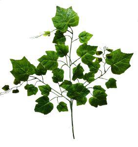 Rama de hojas verdes 65cm