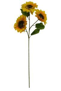 Flor girasol 3 cabezas 90CM
