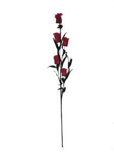Flor espuma 68cm color rojo