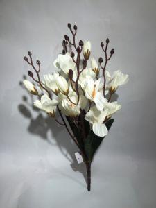 Flor otoño 47cm color blanco