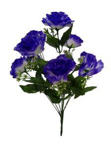Flor 10 cabezas color azul...