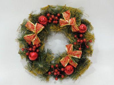 Corona de navidad con lazos...