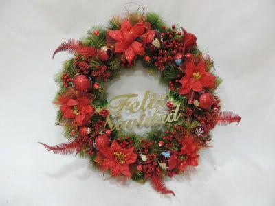 Corona navidad color rojo...