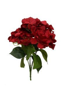 Flor ortencia 47cm color rojo