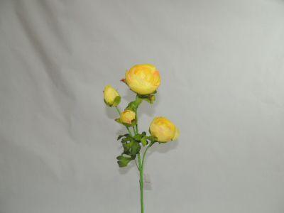 4头仿真茶苞 黄 65cm