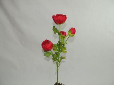 4头仿真茶苞 大红 65cm