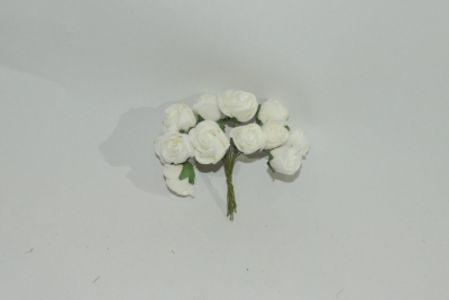 12头小玫瑰 白