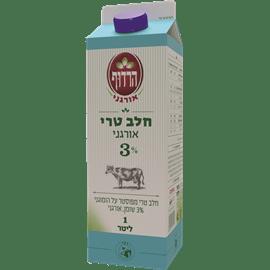 חלב אורגני 3% בקרטון