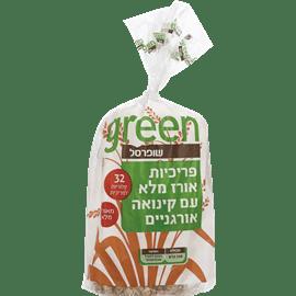 פריכיות אורז קינואה גרין