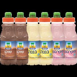 <!--begin:cleartext-->₪ קנה 6 יחידות ממגוון משקה שוקו/בננה בקבוק עם פקק 250 מ''ל יטבת במחיר 26<!--end:cleartext-->