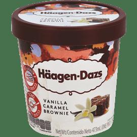 גלידת בראוניס וקרמל