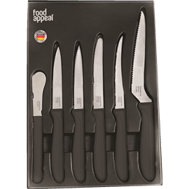 <!--begin:cleartext-->₪ קנה מארז 6 סכינים מהודר אדום/שחור FOOD APPEAL במחיר 39 ₪ במקום 79<!--end:cleartext-->
