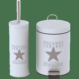 פח 3ליטר+מברשת לשירותים כוכב GALA HOME