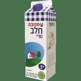 חלב מפוסטר 3% בקרטון