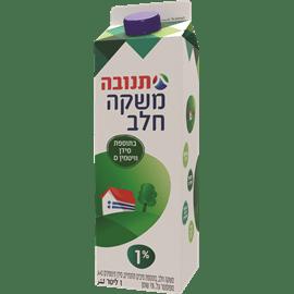 חלב מועשר בקרטון 1% שומן