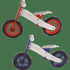 אופני איזון מעץ צבעוניים