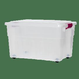 ארגז פלסטיק מכסה וגלגלים